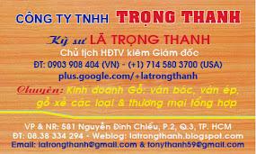 TÀI TRỢ BẠC: LÃ TRỌNG THANH