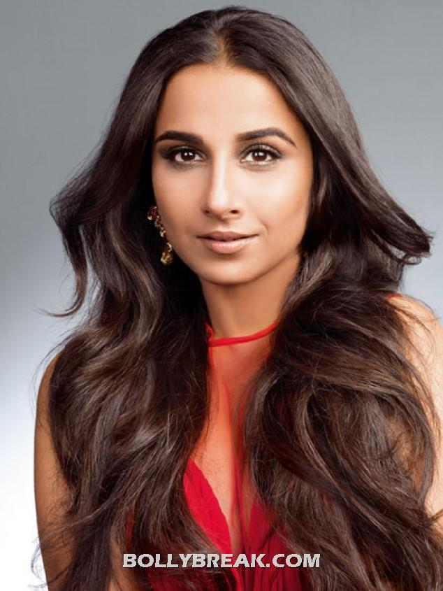 Vidya Balan sexy waves hair - (2) -  Vidya Balan Harper's Bazaar March 2012