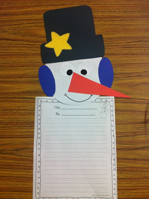 Displaying (20) Gallery Images For Winter Writing Template...