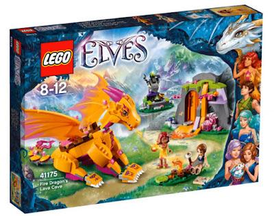 TOYS : JUGUETES - LEGO Elves  41175 Cueva de Lava del Dragón del Fuego  Fire Dragon's Lava Cave  Producto Oficial 2016 | Piezas: | Edad: 8-12 años Comprar en Amazon España & buy Amazon USA