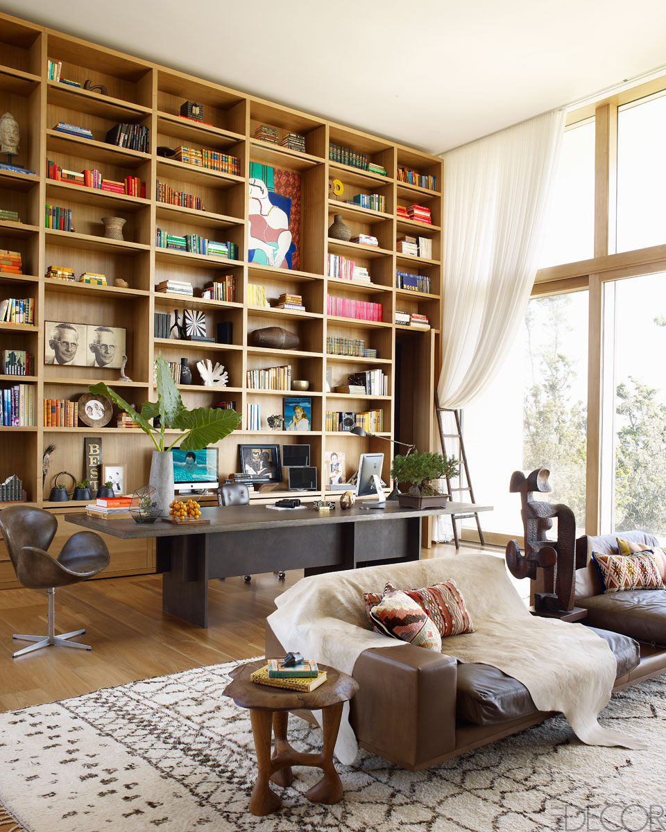 28 Dreamy Home Offices With Libraries For Creative Inspiration: The Well-Appointed Catwalk: The Hamptons Home Of Kelly Behun