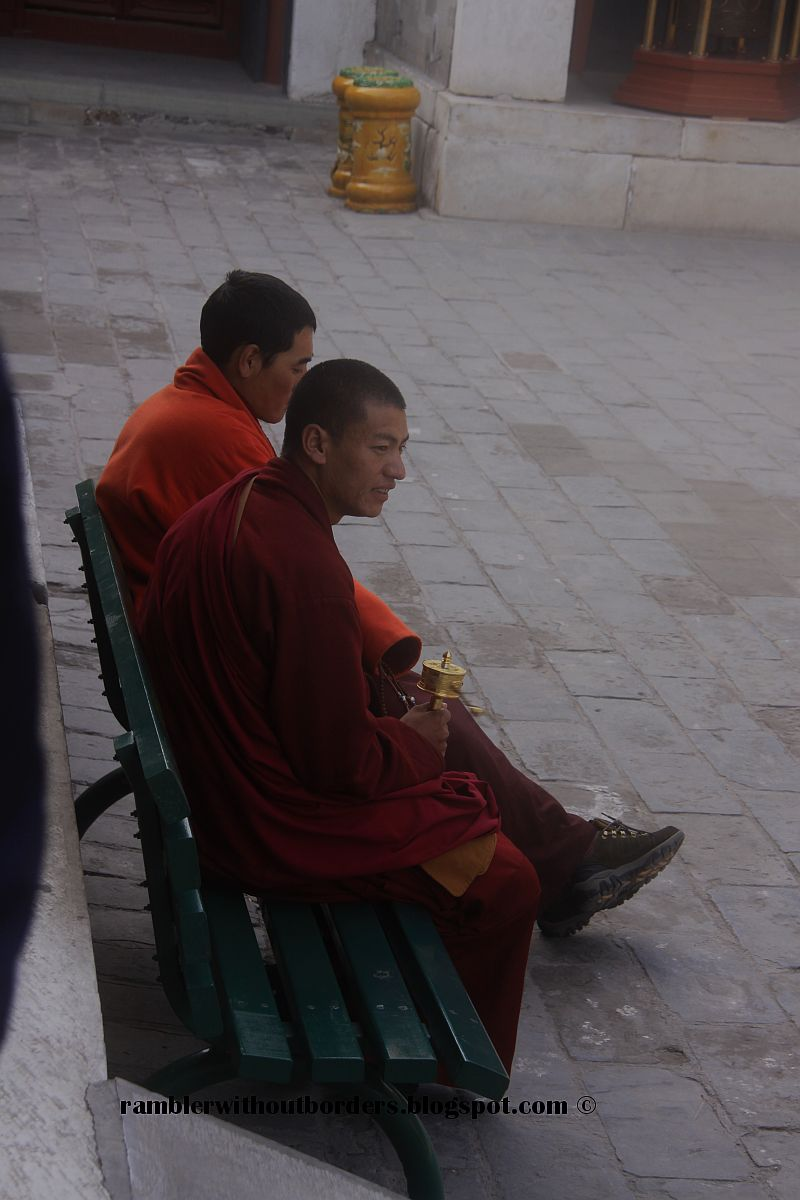 Tibetan monk in Yonghe Palace, Beijing, China