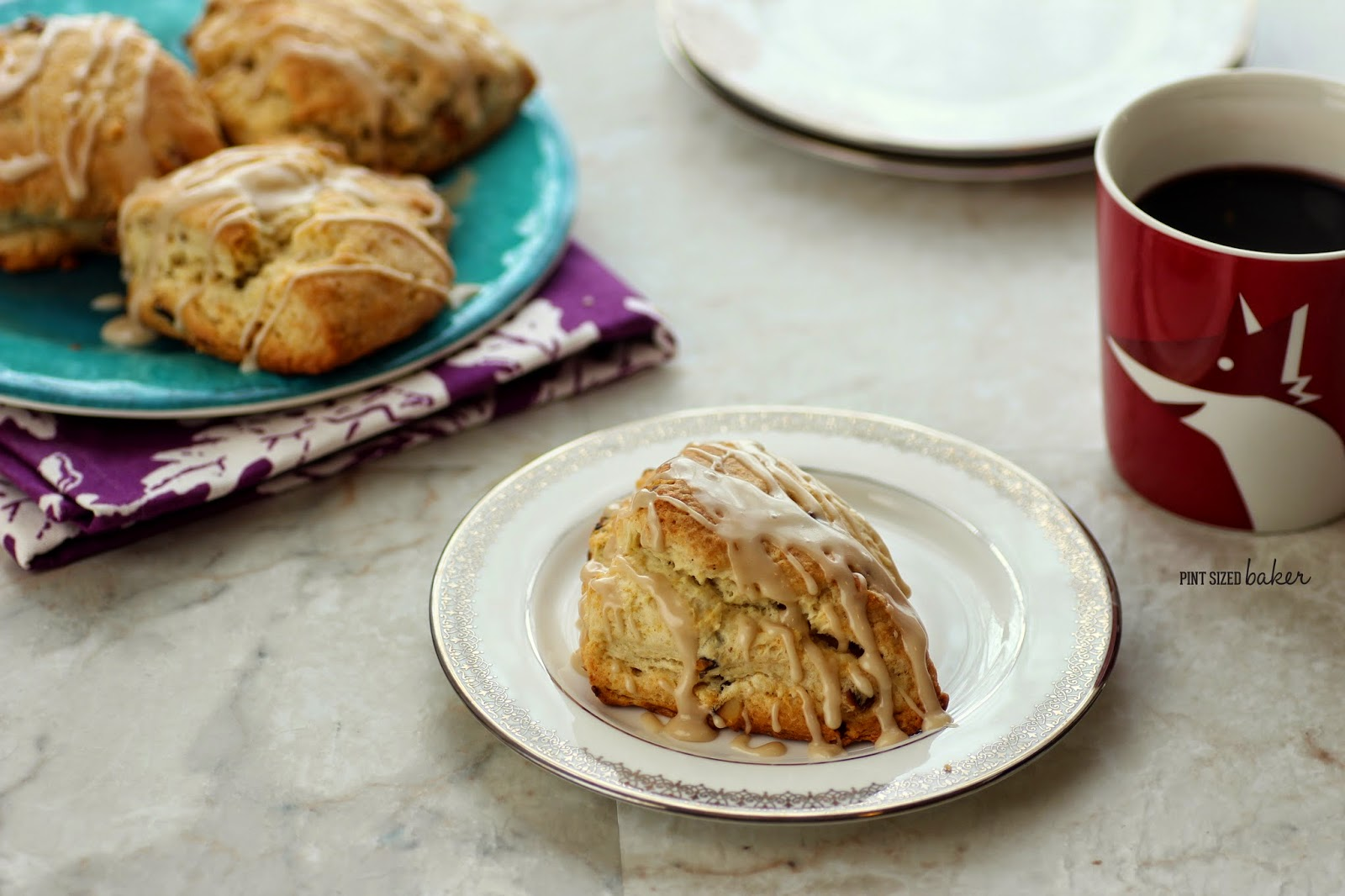 My family loves these Light and Fluffy Maple Pecan Scones! Homemade an ready to eat in under an hour!
