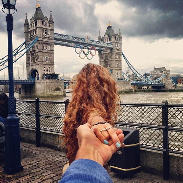 Follow Me To - Londres - Fotógrafo Murad Osmann segue a namorada pelo mundo