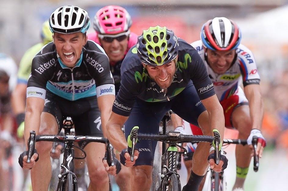 Alejandro Valverde última su puesta a punto en la Vuelta a Castilla y León