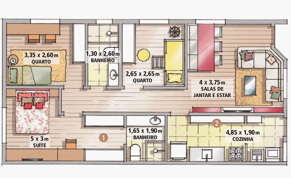 Projetos de casas terreas com 4 quartos for Casa planta ramallosa