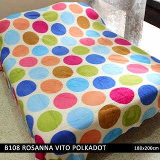 Jual Selimut Rosanna Vito Soft Blanket Polkadot