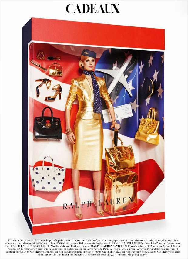 Vogue Paris Dicembre 2014 | editoriale ralph lauren