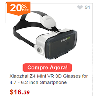 Gearbest Xiaozhai Z4 Mini VR 3D Glasses for 4.7 - 6.2 inch Smartphone
