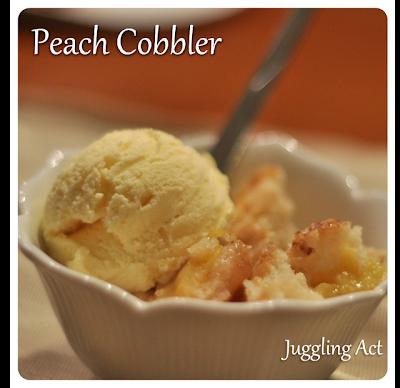 Juggling Act Mama: Peach Cobbler