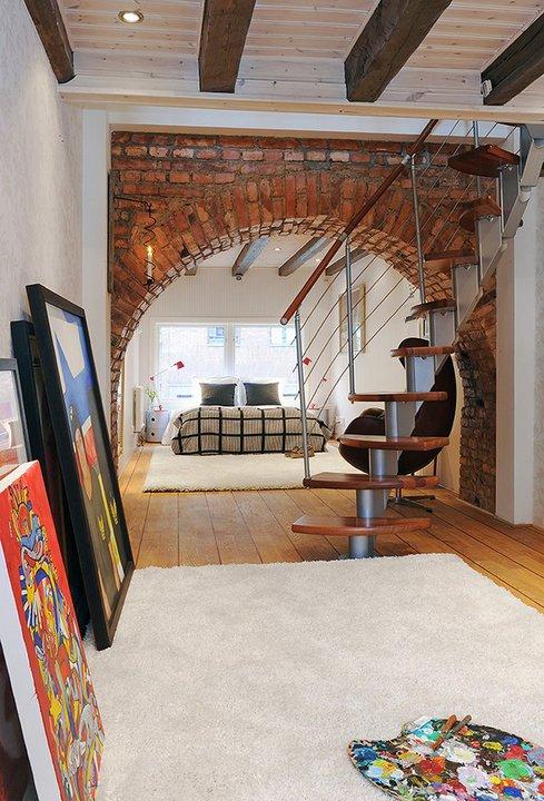 Charming Two Level Apartment Interior Design