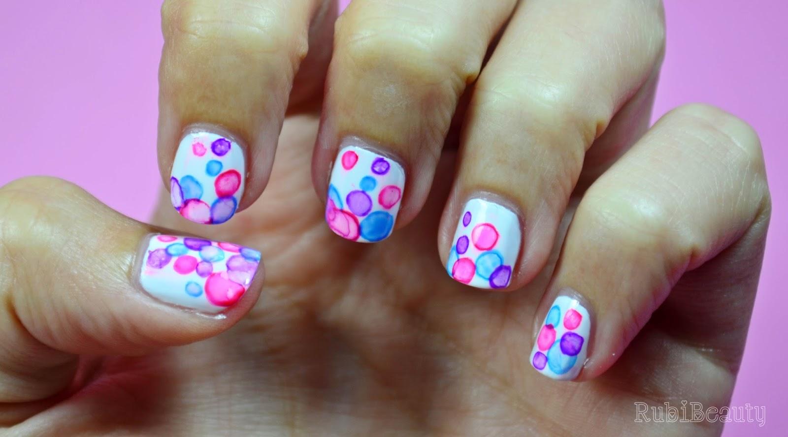 rubibeauty uñas manicura burbujas bubbles