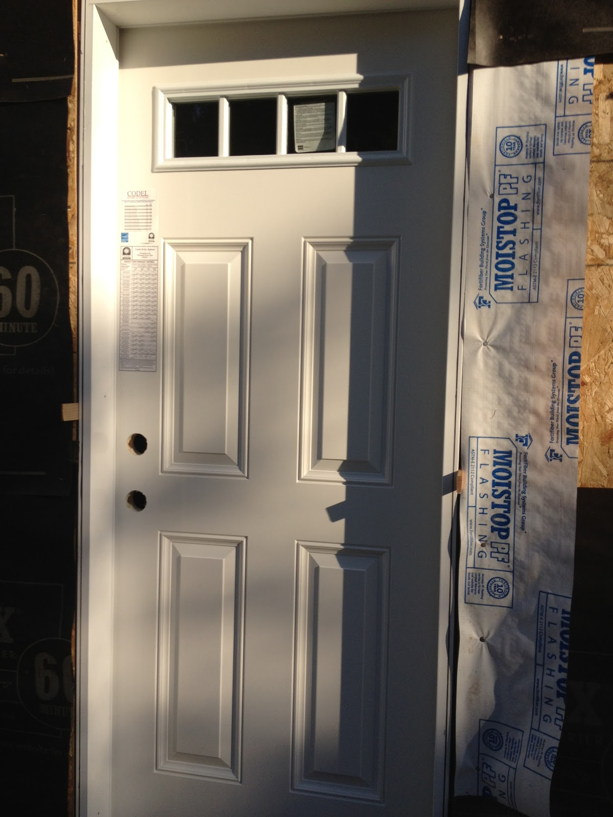 Building Our Dream Home, From The Ground Up: Progress Photos   Garage Man  Door