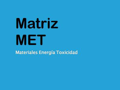 Matriz MET herramientas de ecodiseño