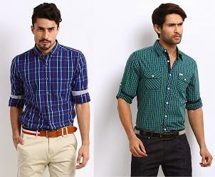 Buy 1 Get 1 Free + Extra 40% Off on men's Casual Shirts @ Myntra (Valid for Today Only)