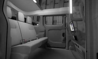 interiores del taxi del futuro