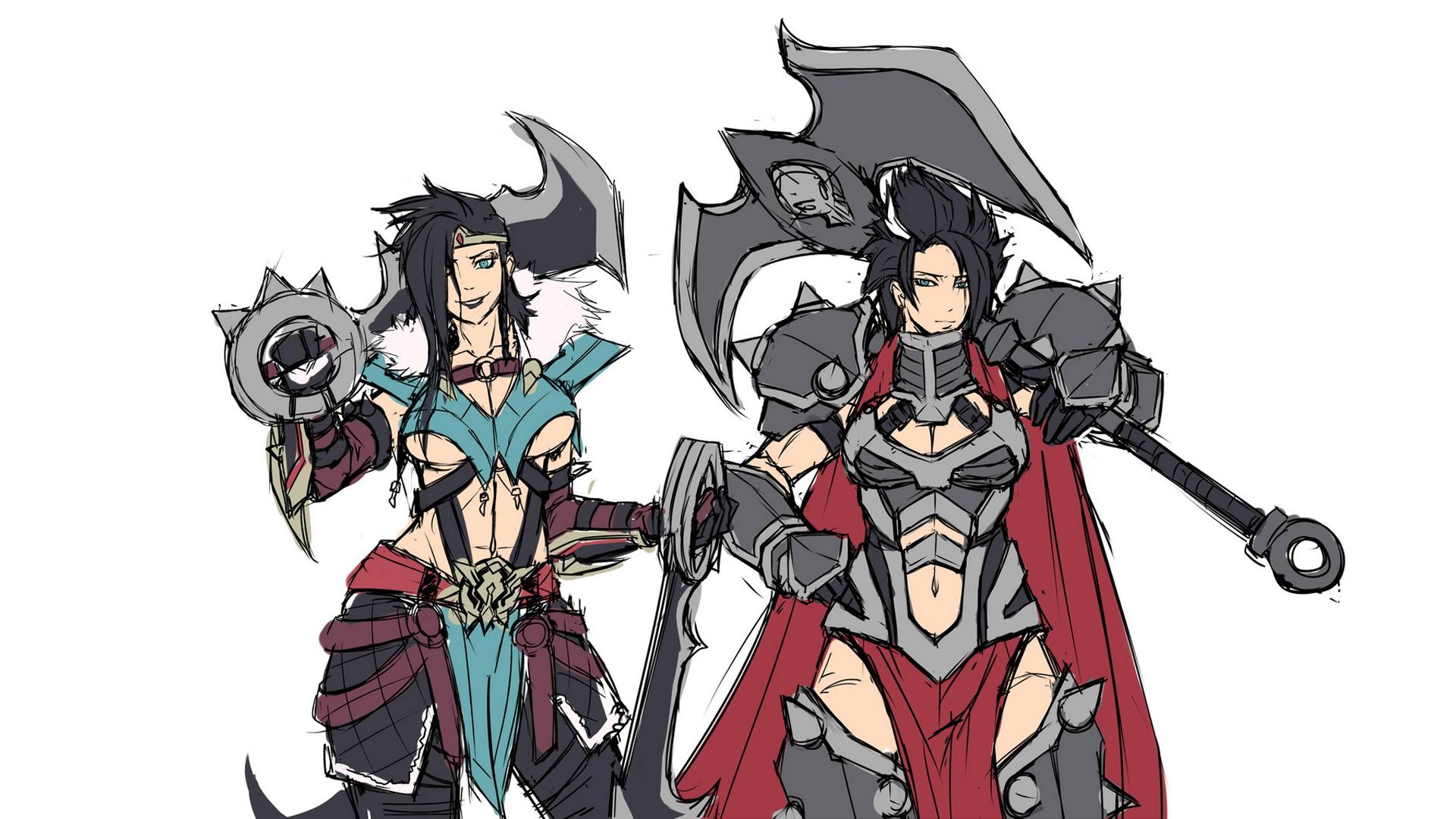 draven and darius girl version league of legends hd wallpaper lol    League Of Legends Wallpaper Darius Draven