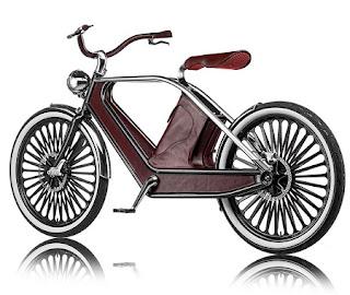 Bicicleta Eléctrica con Revestimiento de Cuero y Estilo Retro