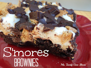 S'mores Brownies ---  Ms. Toody Goo Shoes