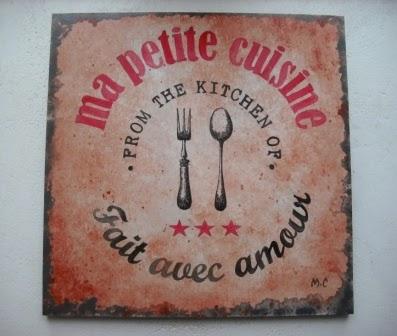 Tableau d coratif style affiche vintage pour cuisine ou salon cours peintur - Tableau decoratif salon ...