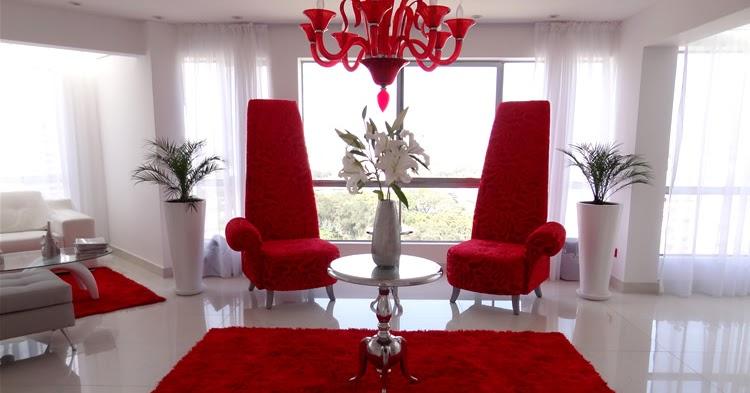 Sala comedor rojo y blanco salas y comedores decoracion de living rooms decoration - Decoracion de comedores y salas ...