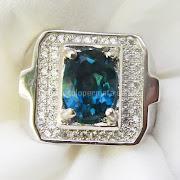 Cincin Batu Permata London Blue Topaz - SP694