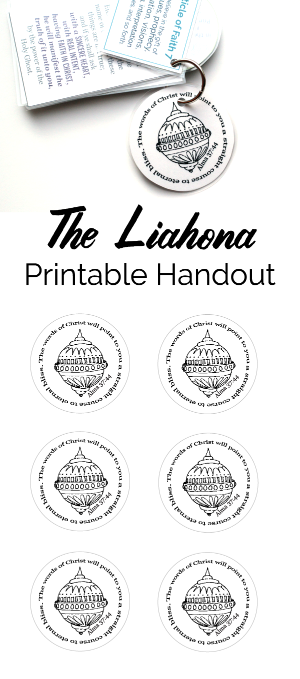 Primary Manual 4: Lesson 5, The Liahona Free Printable Handout