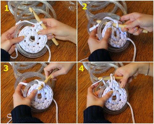 Set De Baño En Crochet Con Una Aguja:Cómo tejer alfombra luminosa crochet – DIY