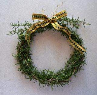 Fresh Rosemary Wreath