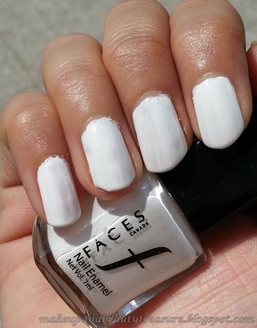 Faces Canada Nail Enamel 'White O White 14' Review