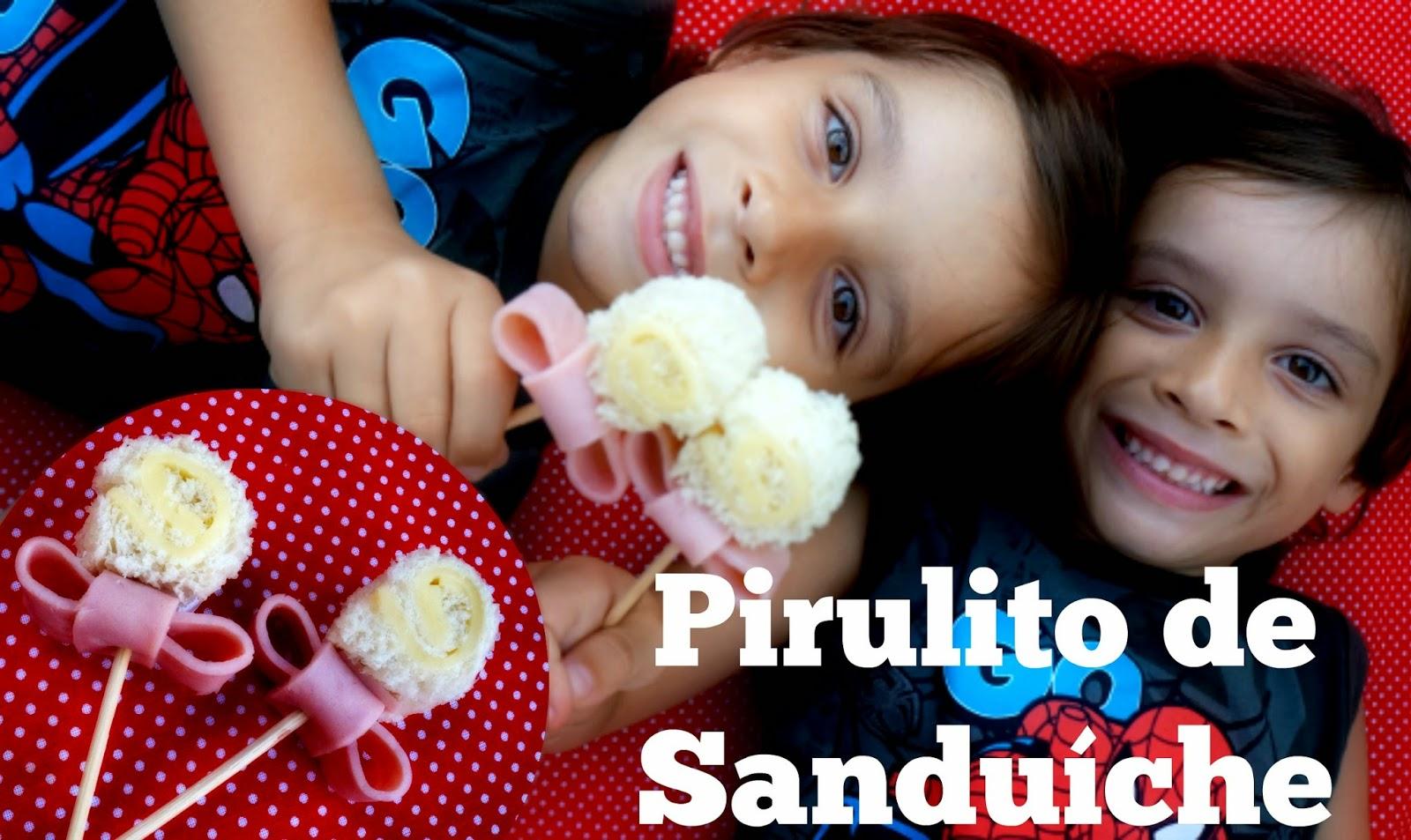 Pirulito de Sanduíche - Comida Divertida #1