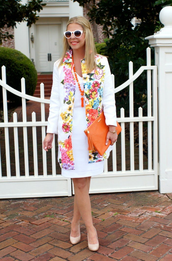 floral longlione coat