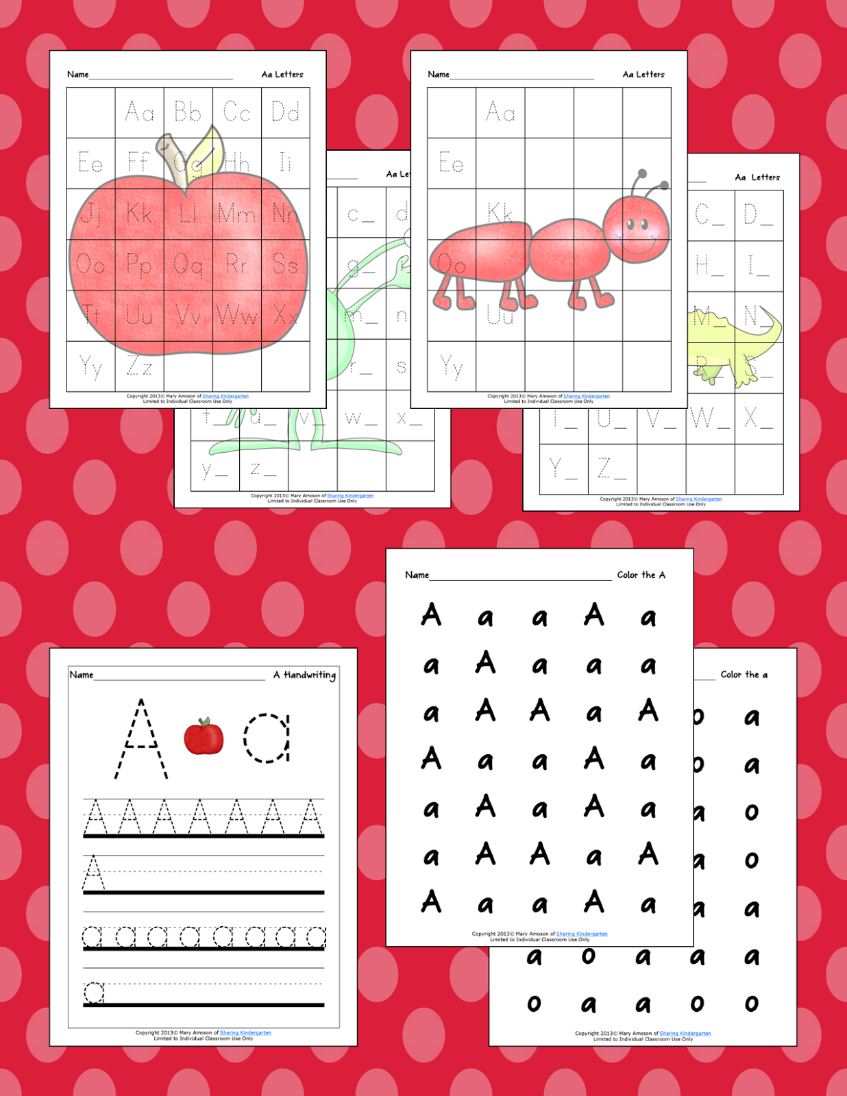 http://www.teacherspayteachers.com/Product/Aa-Activities-721079
