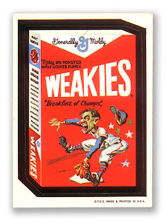 wacky packs 1960's 1970's 1980's retro stickers weakies wheaties
