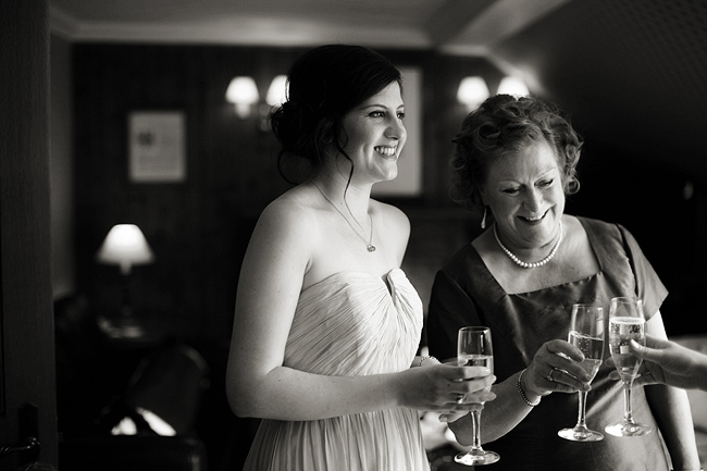 {Lillian and Leonard Wedding Photography} bridesmaid and champagne