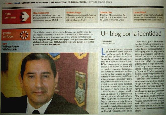 Nota que me efectuara el Diario Clarín