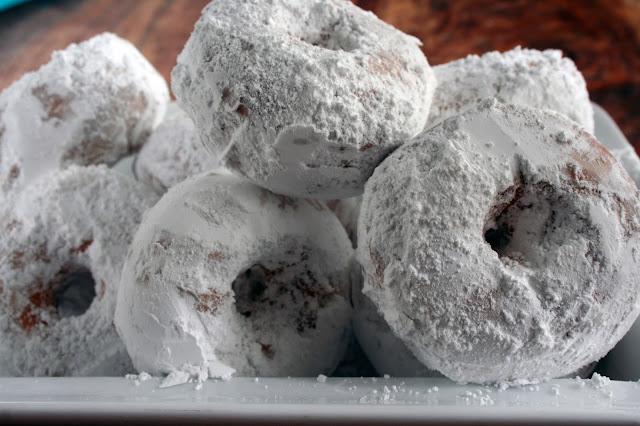 Homemade Powdered Sugared Cake Donuts