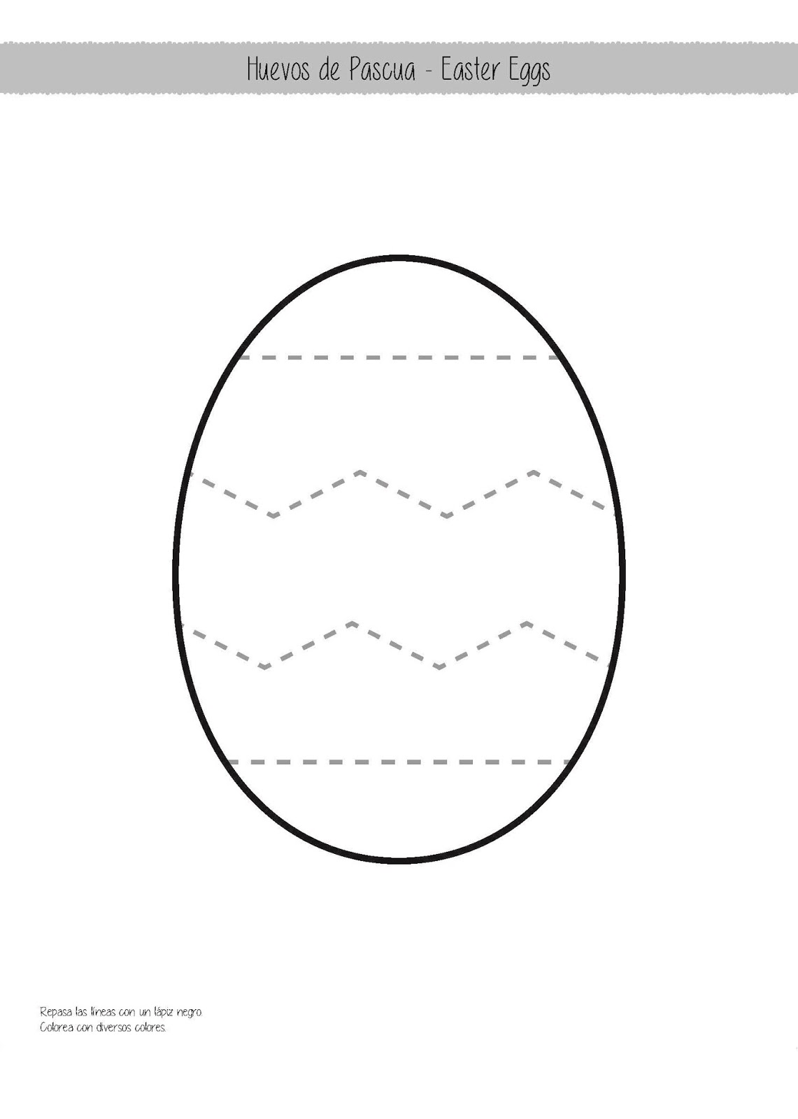 COLOREA TUS DIBUJOS: Huevos de Pascua para colorear