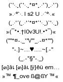 sms xếp hình tình yêu 2