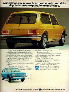 propaganda Volkswagen Brasilia - 1974.  brazilian advertising cars in the 70. os anos 70. história da década de 70; Brazil in the 70s; propaganda carros anos 70; Oswaldo Hernandez;