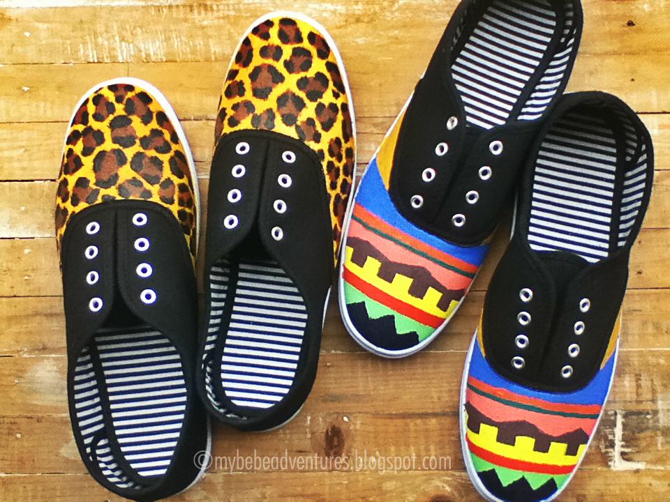 My Bebe Adventures Diy Painted Shoes