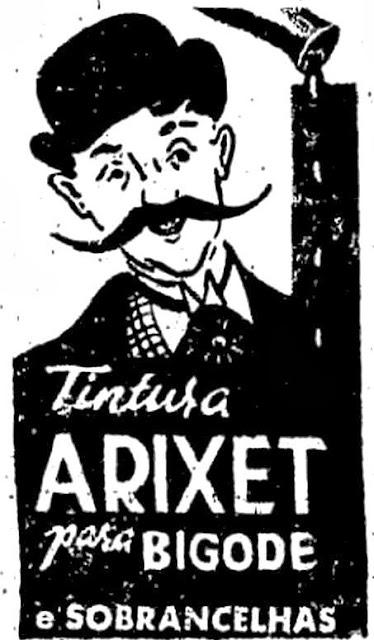 Propaganda de Tintura para Bigodes e Sobrancelhas - Aritex - Anos 50 (1951).