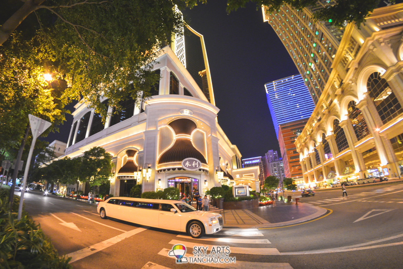 Limousine waiting for its guest outside Wynn Hotel