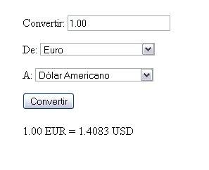 Calculadora para convertir dólares estadounidenses (USD) a euros (EUR)
