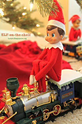 Train Conductor Elf. Ideas for Christmas Fun with your Elf-on-the-Shelf