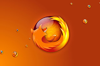 HD Orange Firefox web browser icon wallpaper.