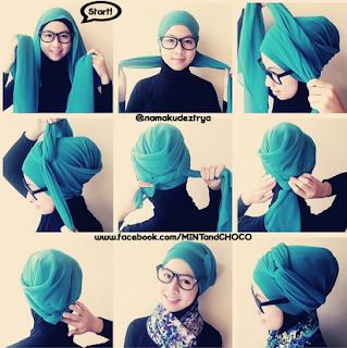 Model Hijab Segi Empat Untuk Pesta