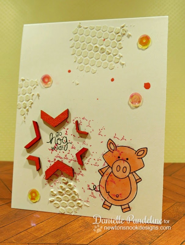Farmyard Friends Card | featuring Newton's Nook Designs Stamps | Created By Danielle Pandeline
