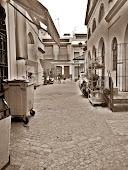 Calle central del mercado