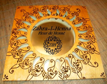 Miroir décoré henné